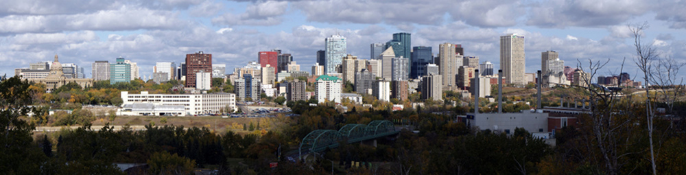 Panorama photo of downtown Edmonton link to Copyright page